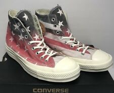 Converse Mens Size 9 Chuck Taylor 70 Hi Casino Flag American Red White Blue New