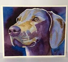 "Weimaraner Dog 8'x10"" Watercolor Print by Ron Krajowski -Dog Puppy Animal Art"
