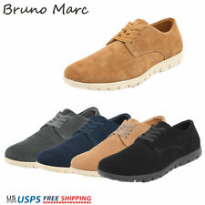 Bruno Marc Mens Casual Shoes Suede Leather Oxford Lace Up Comfort Loafer Shoes