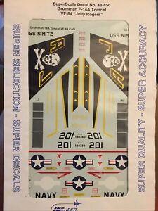 SuperScale Grumman F-14A Tomcat VF-84 Jolly Rogers 1/48 Decal Set 48-850