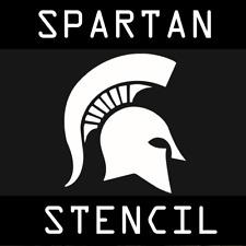 Ancient Spartan Helmet Stencil - A4 Size - Reusable PET Polymer