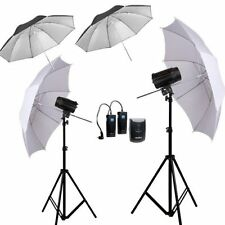 240W GODOX 2* 120DI Pro Photography Studio Strobe Flash Light stand Umbrella Kit