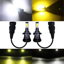 9005 HB3 9006 HB4 LED Fog Light Bulb  White Yellow Dual Color Aviation aluminum
