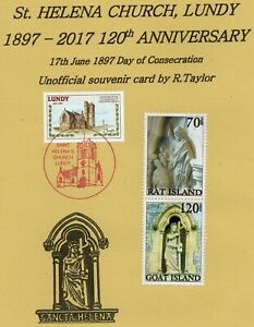 Lundy Island. St. Helena Church Anniversary, Unofficial Cover & Lundy Stamps.