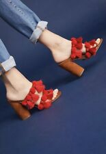 NEW Anthropologie Lottie Tassel Heels Sandals Size 39.5 Capsule Collective