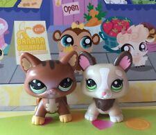 ~Littlest Pet Shop x 2 #2123#2311 Walkables Brown Cat Corgi Dog