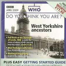 WEST YORKSHIRE ANCESTORS   - WHO DO YOU THINK YOU ARE? CD-ROM(FREE UK POST)