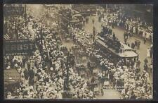 RP PESHA Postcard DETROIT Michigan 1905? Cadillac Auto Parade Aerial view 1912