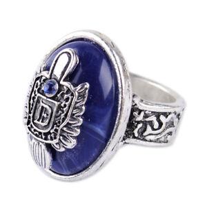 Fashion The Vampire Diaries Damon Finger Family Crest Vintage Ring Diameter 18mm