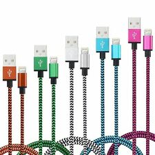 CABLE POUR IPHONE 6 5 7 8 XS XR PLUS IPAD IPOD CHARGER USB RENFORCÉ LOT 1M 2M 3M