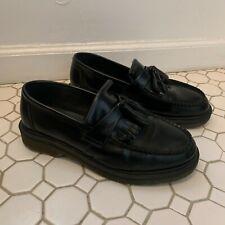 DOC DR MARTENS Adrian Black Tassel Slip On Loafer sz US 8 M / 9 W / EU 41 Unisex