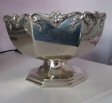 Antique Masonic Violet Chpt No10 O.E.S Silver Plated Presentation Rose Bowl 1921