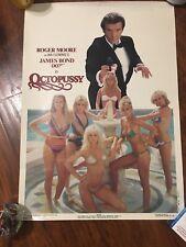 Roger Moore James bond Octopussy movie vintage  Poster 1983 ORIGINAL