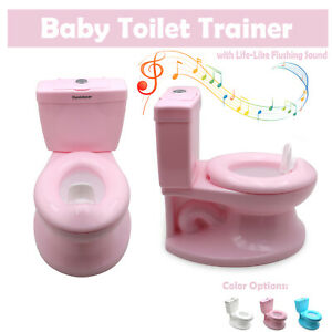 Training Toilet Seat Chair For Toddler Boys kids & Girls with Flushing Sounds Pi