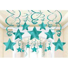 30 ct ~ Robin's Egg Blue Shooting Star Swirls Graduation Birthday Party Supplies