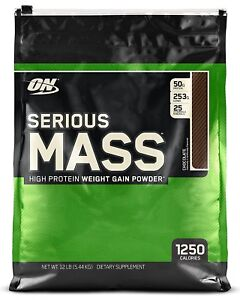 Optimum Nutrition Serious Mass Weight Muscle Gain Calorie Rich Protein - 5.45kg