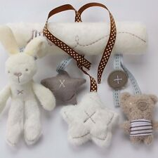 Rattle Hanging Toy Baby Stroller Rabbit & Bear Bunny Plush Hanging Toys for baby