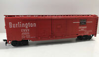 ATHEARN HO SCALE 50' DOUBLE DOOR BURLINGTON ROUTE RED BOX CAR CB&Q 48500
