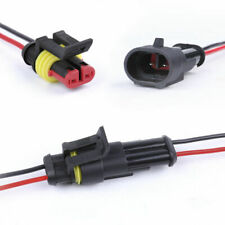 10 Kit 2 Pin Way Car Waterproof Electrical Connector Plug Male Female Wire Cable