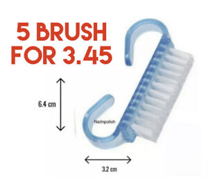 Nail Scrubbing Brush Manicure Pedicure Finger Toe Plastic Bristle Cleaning Scrub