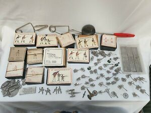 Prince August Battle of Waterloo Lead Toy Soldier Making Job Lot Moulds Tools