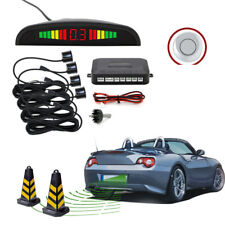 Wireless Cars Parking Rear Reverse 4 Sensor Buzzer Radar LED Display Audio Alarm