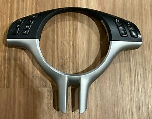 Genuine BMW 3 Series E46 Steering Wheel with controls - Silver Trim 6753961
