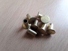 """6.35 mm (1/4"""") x 12.7 mm (1/2"""") Semi Hollow Brass Brake Clutch L7 Rivet Qté 8"""