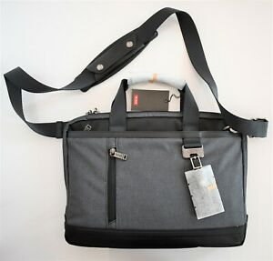 New Authentic TUMI Heather Gray BURKE PORTFOLIO SLIM TOP ZIP BRIEF Briefcase Bag
