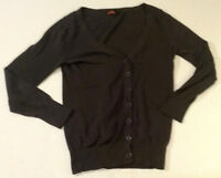 Twenty One Womens Gray Long Sleeve Cardigan Sweater Shirt Top Size Medium M