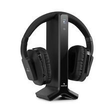 Auriculares inalámbricos 20 m 2,4 GHz TV/HiFi/CD/MP3 negro auna Silencium