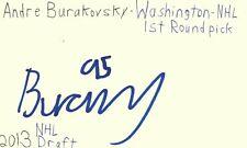 Andre Burakovsky Washington NHL 2013 Draft Hockey Autographed Signed Index Card