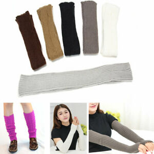 Warm Arms Legs Cover Protect Knit Arm Warmer Wrist Band Long Arm Set Sleeve New