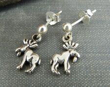 Sterling Silver Moose Earrings