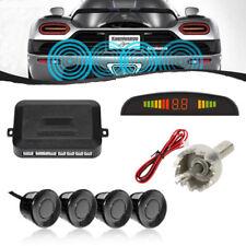 Black 4 Sensors Car Parking Sensor Kit LED Backlight Reverse Radar for Audi