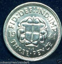 UK (Great Britain) 1941 Threepence -High Grade UNCIRCULATED