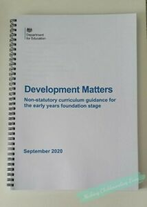 EYFS early years foundation stage 2020 EYFS Development Matters book PRINTED