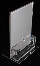 A6 Portrait Double Sided Menu / Poster Holder + Business Card Holder PDS8040BCH