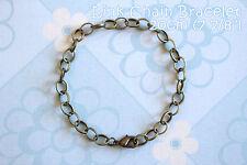 Antique Bronze Lobster Clasp Link Chain Bracelets - 7 7/8 inches (20cm) - 6pcs