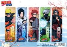 Naruto set Segnalibri n.3 - clear bookmarks - Naruto Sasuke Kakashi Gara Itachi