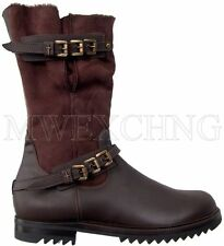 CESARE PACIOTTI LUXURIOUS SHEARLING BOOTS US 11 ITALIAN DESIGNER MENS SHOES