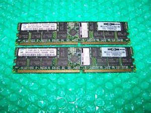 4GB HP DDR PC3200R 400MHz CL3 ECC Reg Server RAM (pair of 2GB modules)