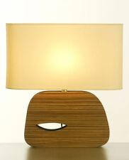 LAMPE à poser en BOIS DESIGN de Style ANNEES 50