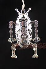 1Pcs Metal Silver Lightning Robot Hollow Charms Pendants Findings 57x32mm