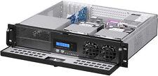 "2U ATX LCD(500W PSU)(5.25""+7xHDD)Rackmount D:14.96"" (3 Horizontal Riser)Case NEW"