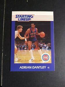 Adrian Dantley 1988 Starting Lineup Figurine & Sharp Card