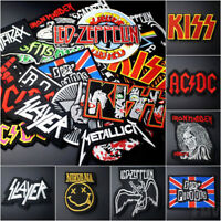 DIY Embroidered Rock Metal Punk Music Band Patch Iron On Sew On Bags Badge Gift