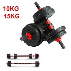 10 15KG Hantel Hantelset Kurzhantel Langhantel Dumbbell Gewichte Verstellbar