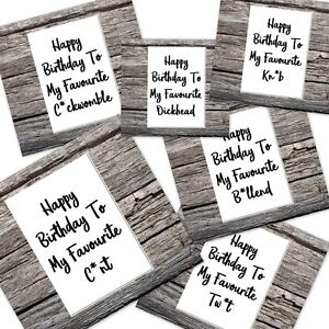funny rude offensive swearing happy birthday card  tw*t c*nt knob