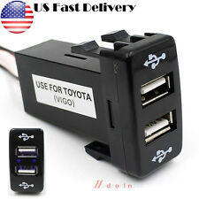 5V 2.1A Auto Car Dual USB 2-Port Dashboard Charger Phone PDA DVR for Toyota New